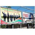 BDP VE AK PARTİ BİLBOARDLARDA DA YARIŞIYOR SEÇİM PROPAGANDASI İÇİN KİRALANAN BİLBOARDLARDA BDP VE AK PARTİ YAN YANA İLAN VERDİ