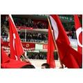 KONYADA 19 MAYIS KUTLAMALARI DIŞİŞLERİ BAKANI AHMET DAVUTOĞLUNUN DA KATILIMIYLA GERÇEKLEŞTİRİLEN TÖRENLERDE ÖĞRENCİLER HAZIRLADIKLARI GÖSTERİLERİ SUNDU